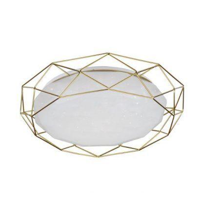 szklany plafon w złotej obudowie