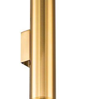 tuba kinkiet w złotym połysku