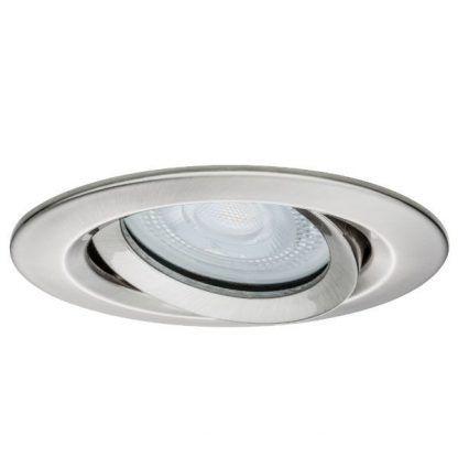 srebrne oczko sufitowe z regulacją