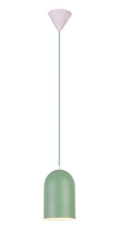 zielona lampa wisząca metalowy klosz