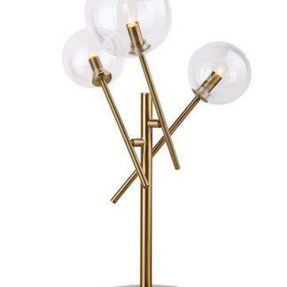 złota lampa stołowa szklane kule klosze