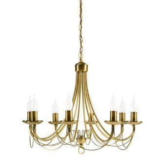 złoty żyrandol świecznikowy klasyczny