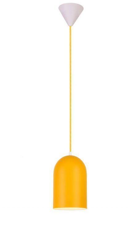 żółta lampa wisząca do pokoju dziecięcego