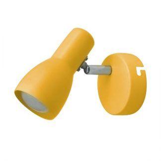 żółty kinkiet do pokoju młodzieżowego