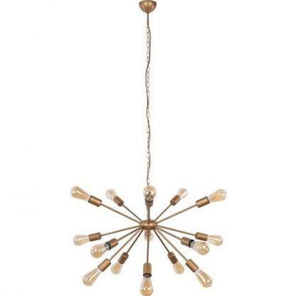 żyrandol z żarówkami dekoracyjnymi - złoty do salonu