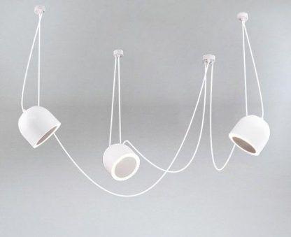 biała lampa wisząca pająk nowoczesna