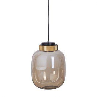 beżowa lampa ze złotymi detalami