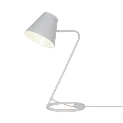 biała lampa biurkowa nowoczesna