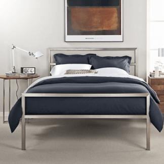 biała lampa nocna nowoczesna sypialnia aranżacja