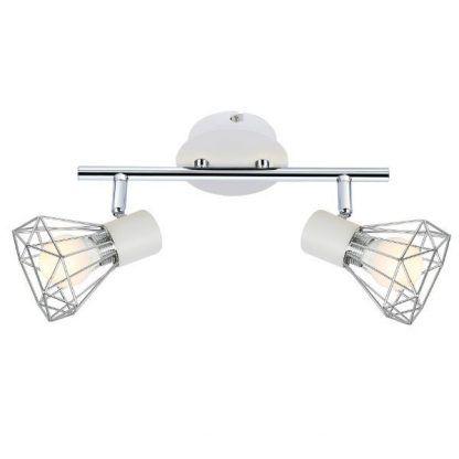 biała lampa sufitowa srebrne klosze