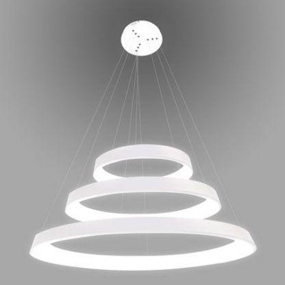 biała lampa wisząca ringi led nowoczesna