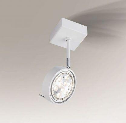 biały reflektor sufitowy nowoczesny