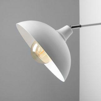 biały szeroki klosz z regulacją nowoczesne oświetlenie