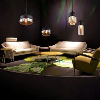 bursztynowe lampy do salonu aranżacja