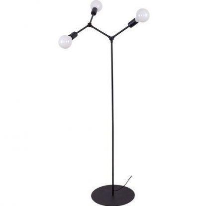 czarna lampa podłogowa molekularna