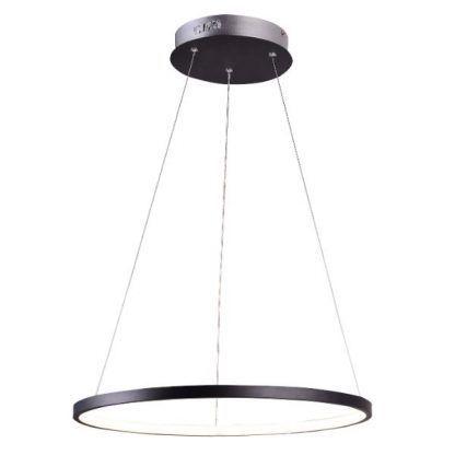 czarna lampa wisząca led ring nowoczesna