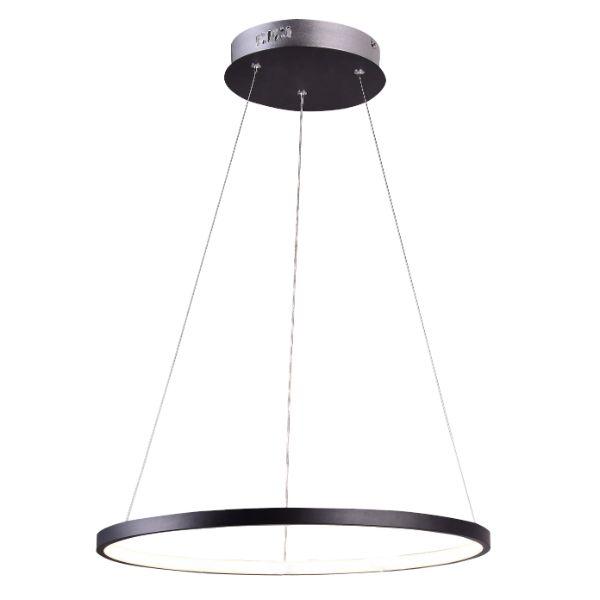 Obręcz Ring Lampa Wisząca Lune żyrandol Led Czarny Ringi Aluminiowe Zawiesie Stalowe Na Linkach Lumigo Pl