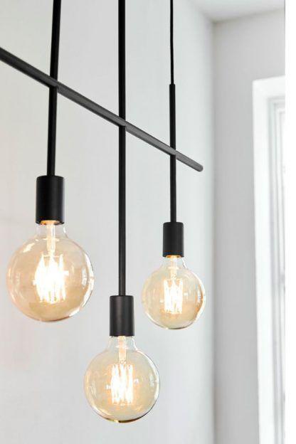 czarna lampa wisząca metalowa nowoczesna