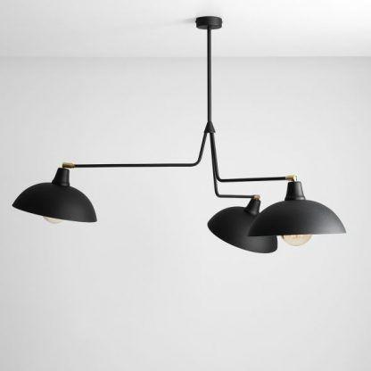 czarna lampa wisząca okrągłe klosze