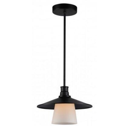 czarna lampa wisząca styl vintage