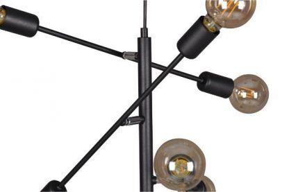 czarna stalowa lampa wisząca nowoczesna