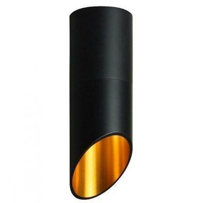 czarna tuba sufitowa złoty środek