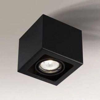 czarne kwadratowe oczko sufitowe