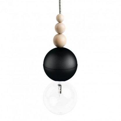 czarne zawieszenie dekoracyjne kulki