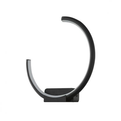 czarny kinkiet led nowoczesny design