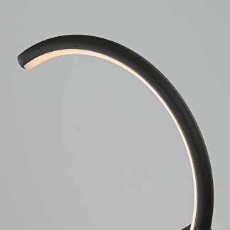 czarny półksiężyc nowoczesny kinkiet