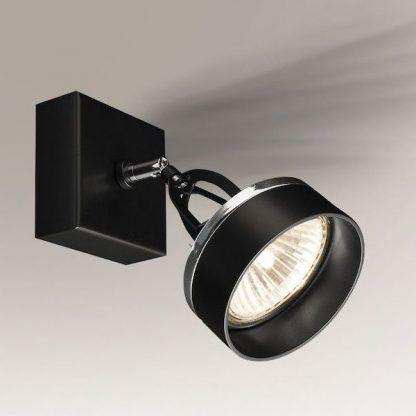 czarny reflektor regulowany nowoczesny