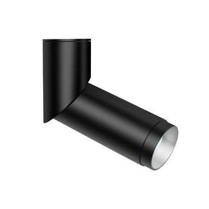 czarny reflektor z obracaną głowicą nowoczesny