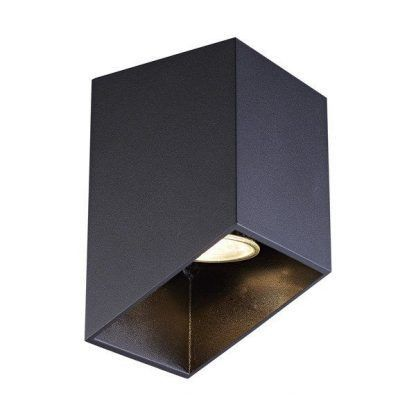 czarny spot sufitowy geometryczny