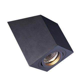 czarny spot sufitowy geometryczny kształt