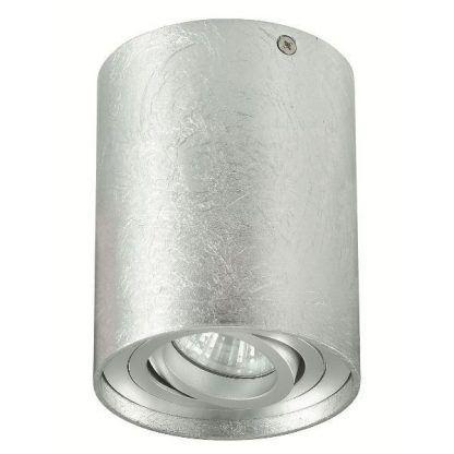 dekoracyjny spot sufitowy srebrna struktura