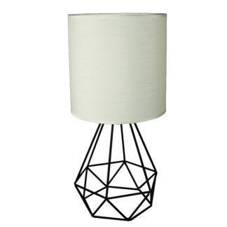 druciana lampa stołowa diament z abażurem