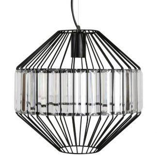 druciana lampa wisząca nowoczesna czarna