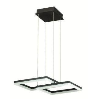 geometryczna lampa wisząca led czarne kwadraty