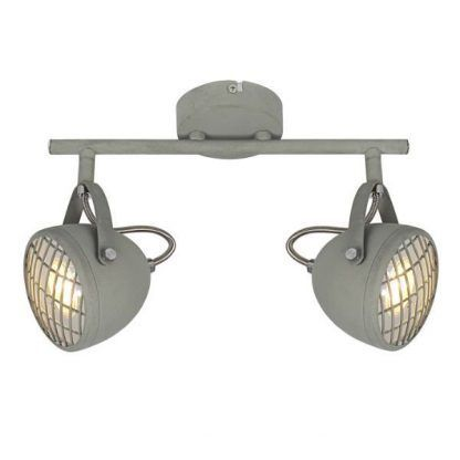 industrialna lampa sufitowa dwa reflektory