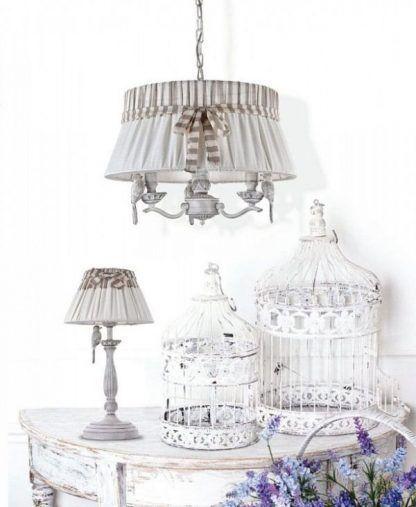 klasyczne lampy z abażurem vintage