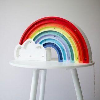 kolorowa tęcza lampka do pokoju dziecka
