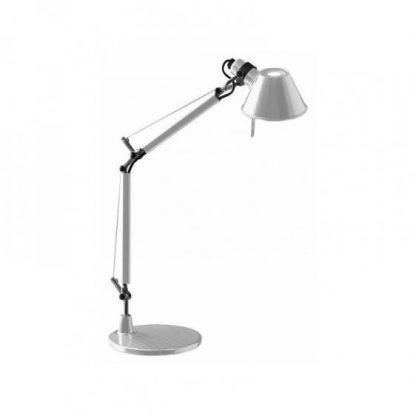 biała lampa na biurko z regulacją