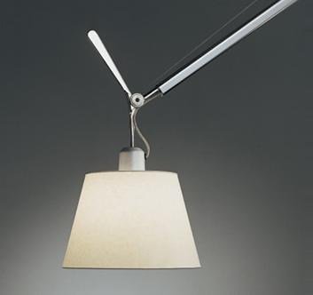 lampa z pergaminowym kloszem