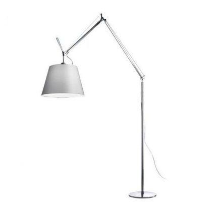 lampa podłogowa z dużym abażurem designerska