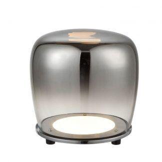 lampa stołowa barwione szkło szara