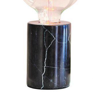 lampa stołowa czarny marmur nowoczesna