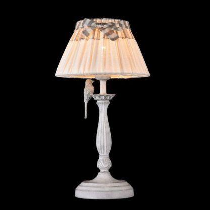 lampa stołowa shabby_chic ptaszek
