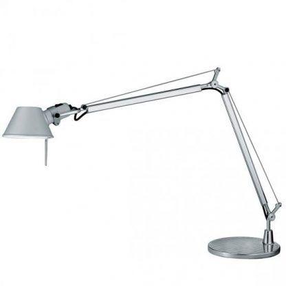 szara lampa biurkowa do gabinetu do sypialni