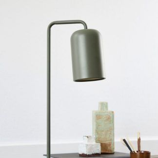 lampa stołowa zgaszona zieleń aranżacja