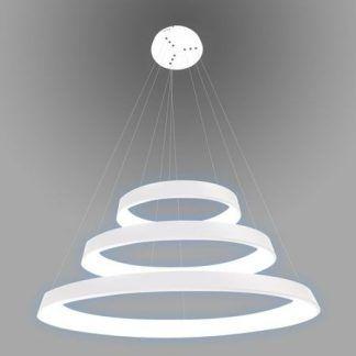 lampa wisząca białe ringi led duża